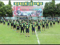 TNI-Polri di NTB Kompak Gowes Bareng Meriahkan HUT ke-60 Korem 162/WB