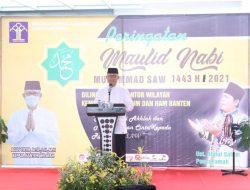 Peringati Maulid Nabi 1443 H, Ini Pesan Kakanwil Kemenkumham Banten